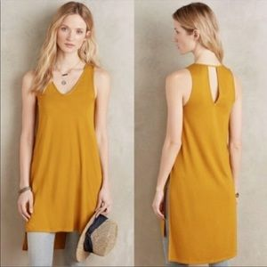 Anthro Akemi + Kin Longview Mustard Tunic Tank Top